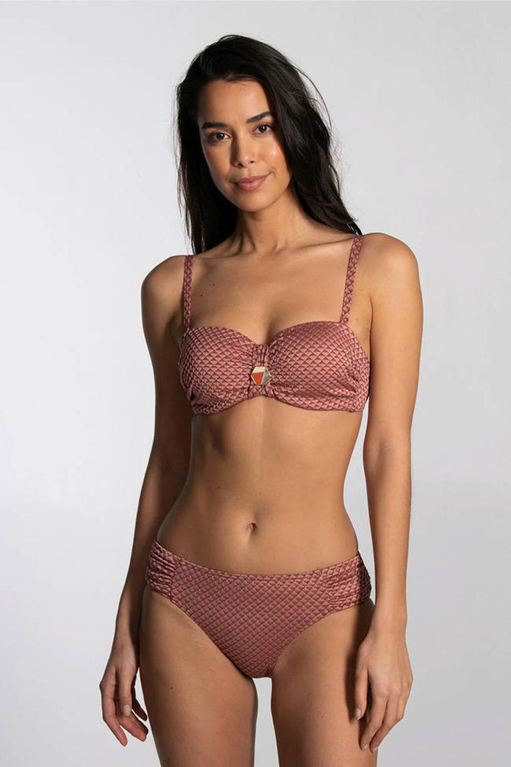 Cyell bikinibroekje met all over print oudroze, Oudroze