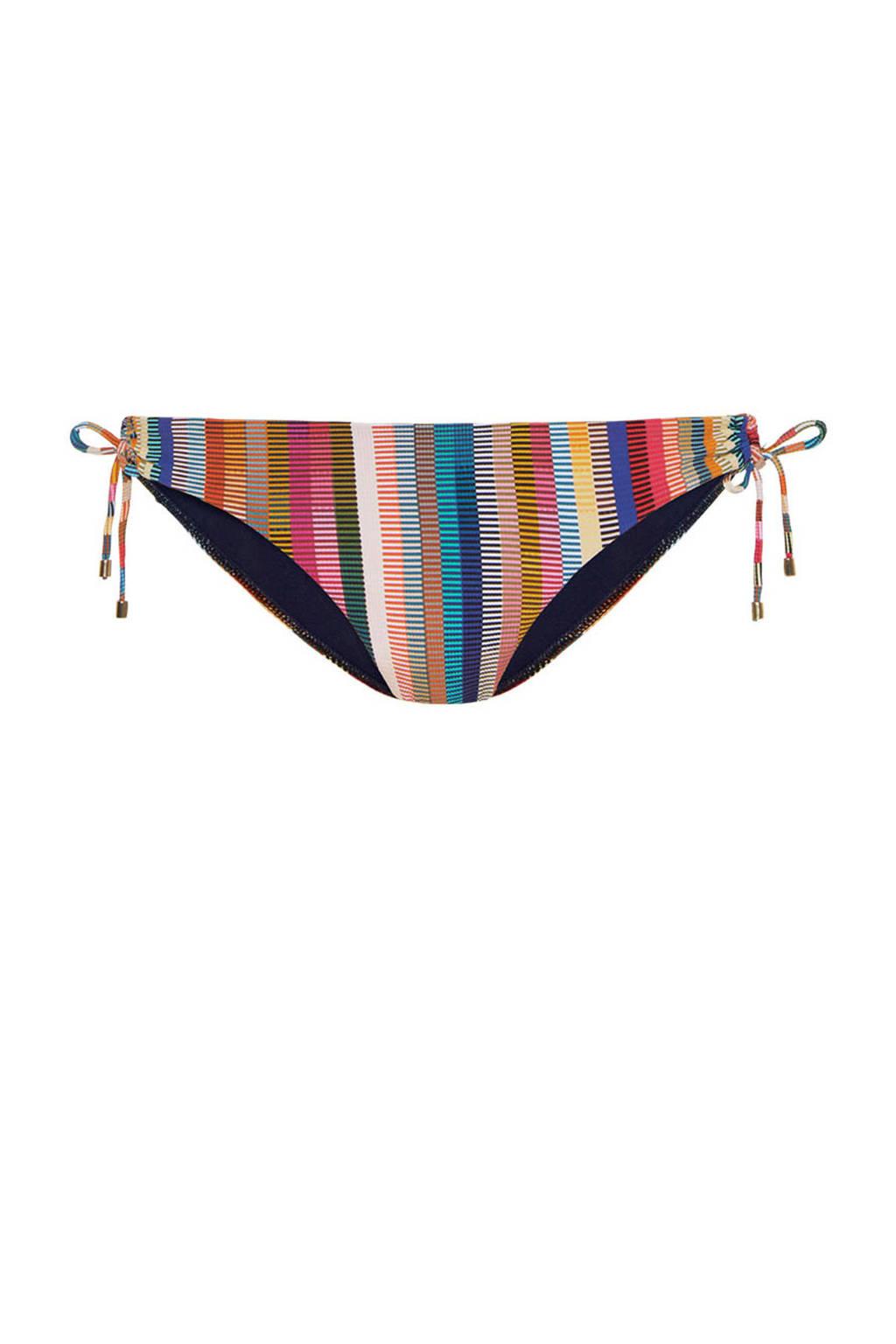 Cyell gestreept strik bikinibroekje groen/rood/bruin, Groen/rood/bruin/petrol