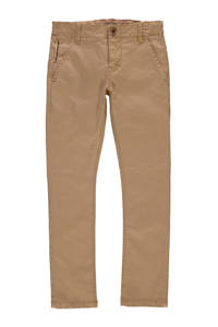 NAME IT KIDS slim fit broek bruin, Bruin