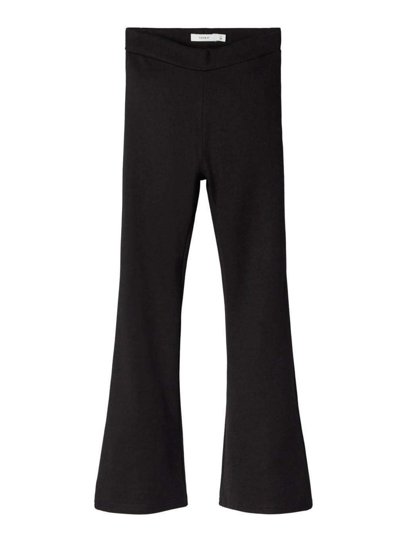 NAME IT KIDS high waist flared broek zwart, Zwart