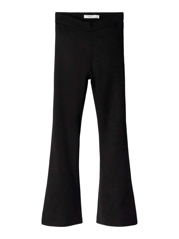 NAME IT KIDS high waist flared broek NKFFRIKKALI zwart, Zwart
