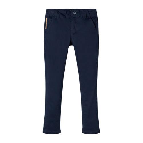 NAME IT KIDS slim fit broek donkerblauw