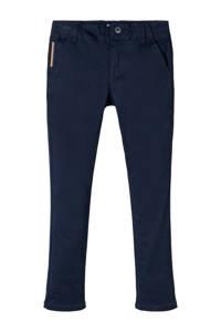 NAME IT KIDS slim fit broek donkerblauw, Donkerblauw