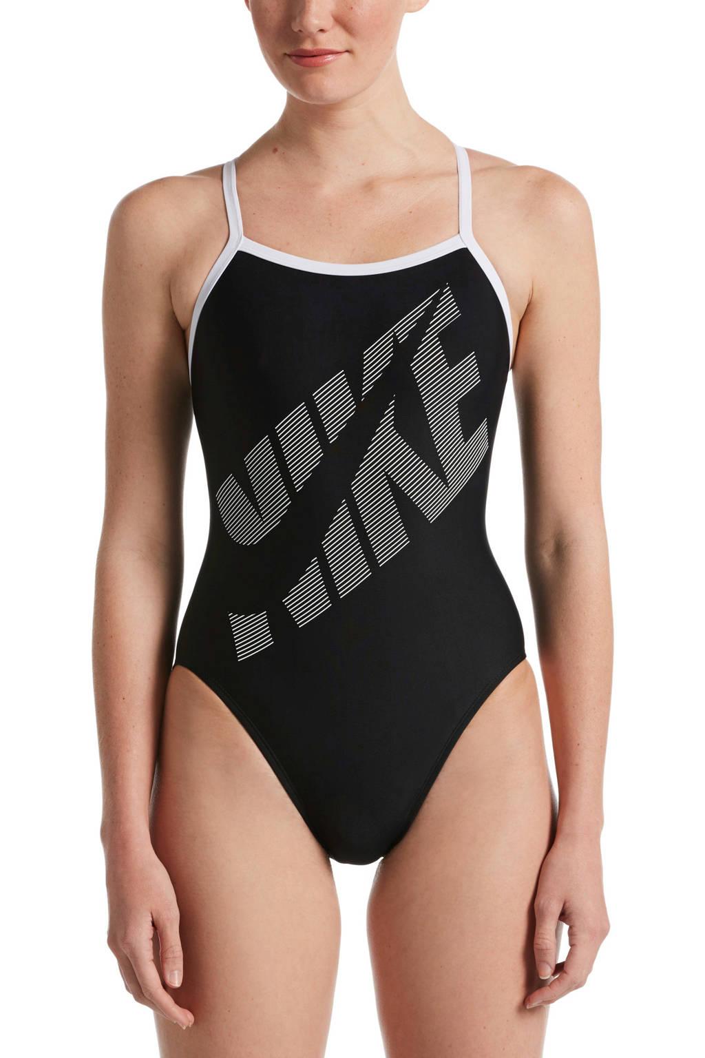 Nike sportbadpak Tilt zwart/wit, Zwart/wit