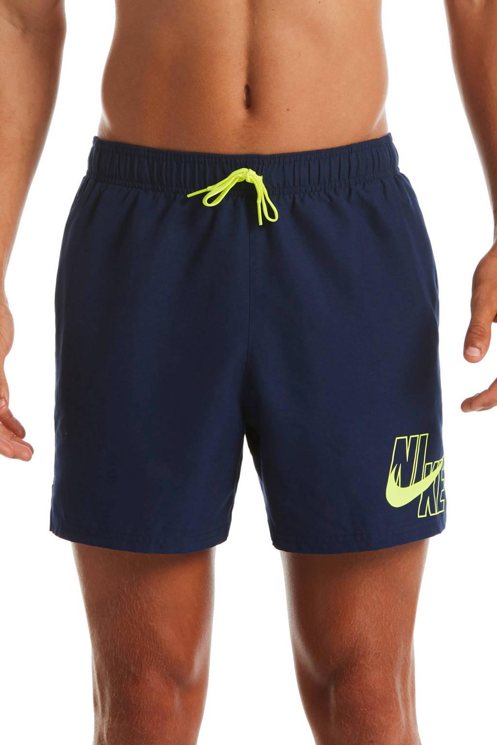 Nike zwemshort blauw/geel, Blauw/geel