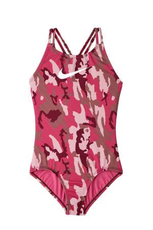 sportbadpak Camo Girls roze/grijs