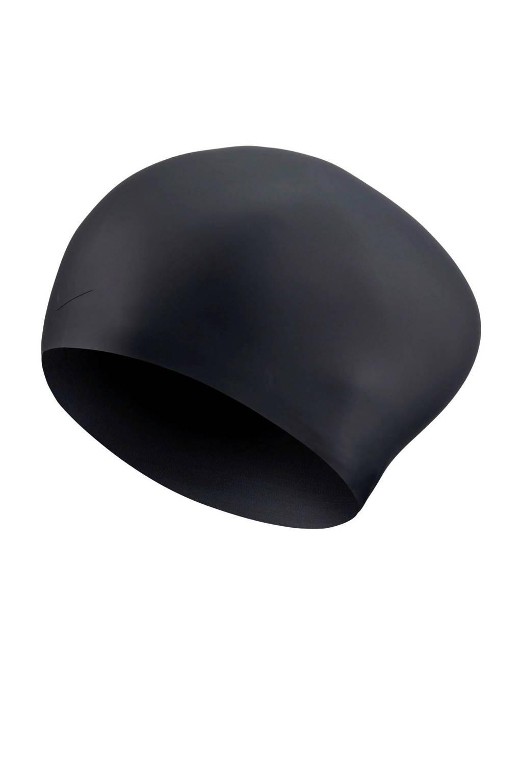 Nike badmuts voor lang haar zwart, Zwart
