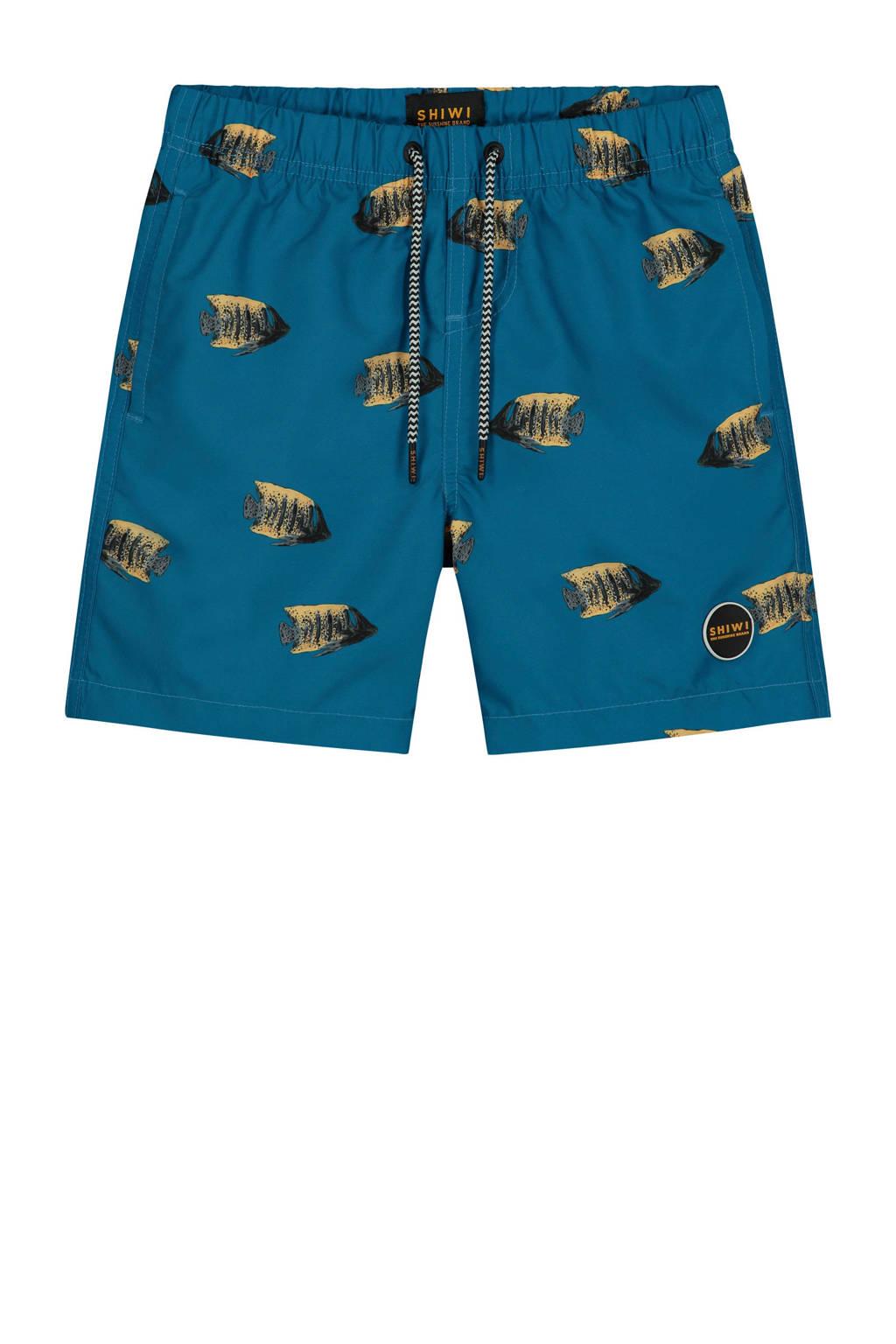 Shiwi zwemshort Moonfish blauw/oranje, Blauw/oranje