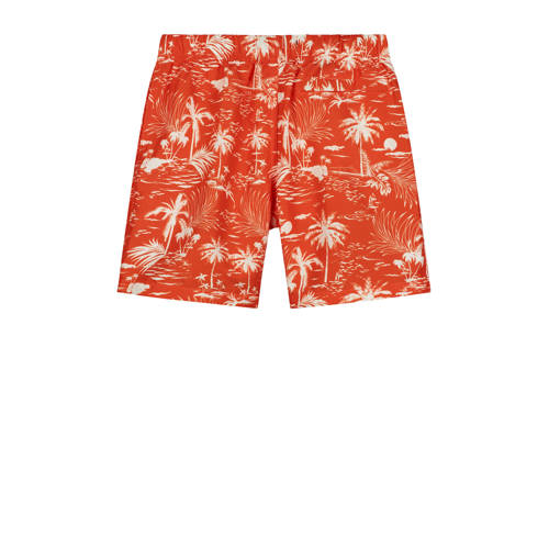 Shiwi zwemshort Kauai met all over print rood/wit