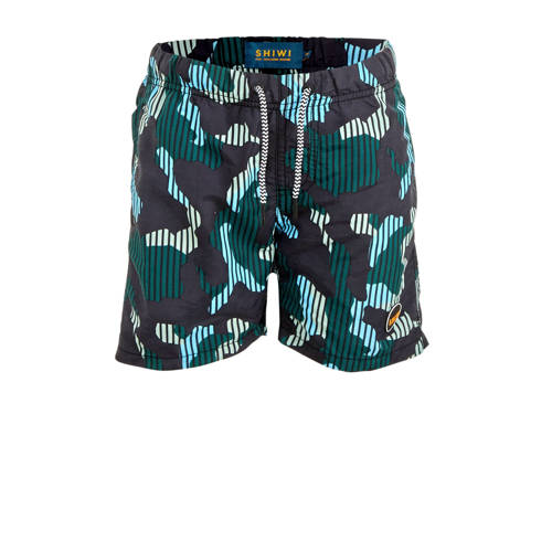 Shiwi zwemshort Camouflage met all over print groe