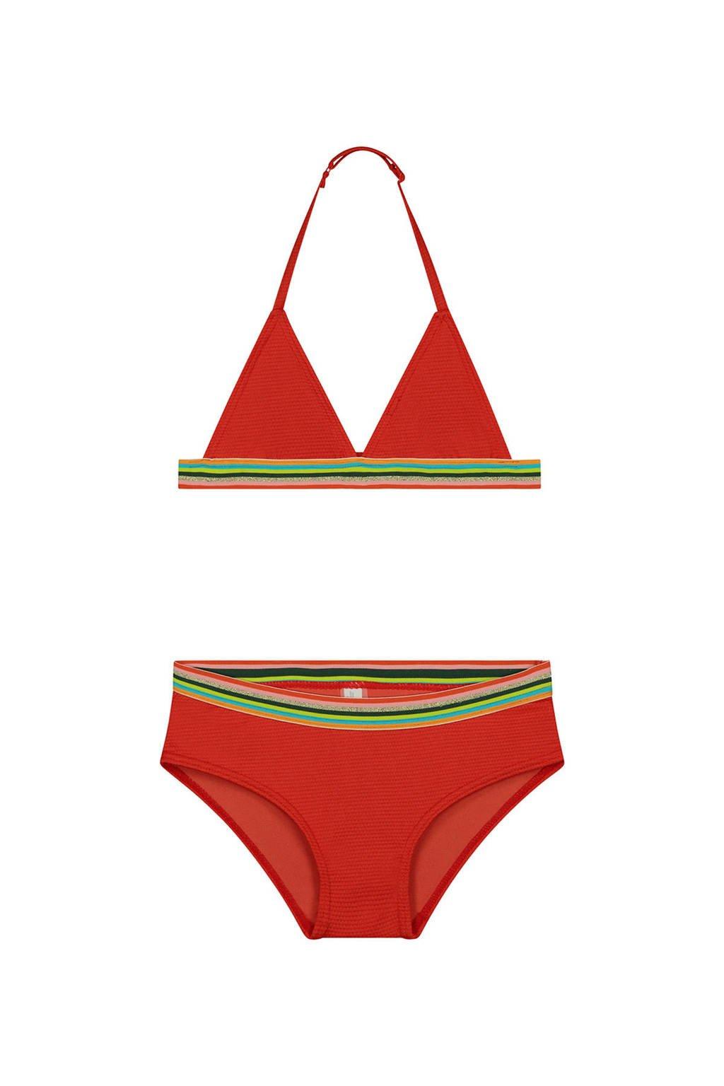 Shiwi triangel bikini Rainbow rood, Rood/groen/lime/roze/lichtblauw