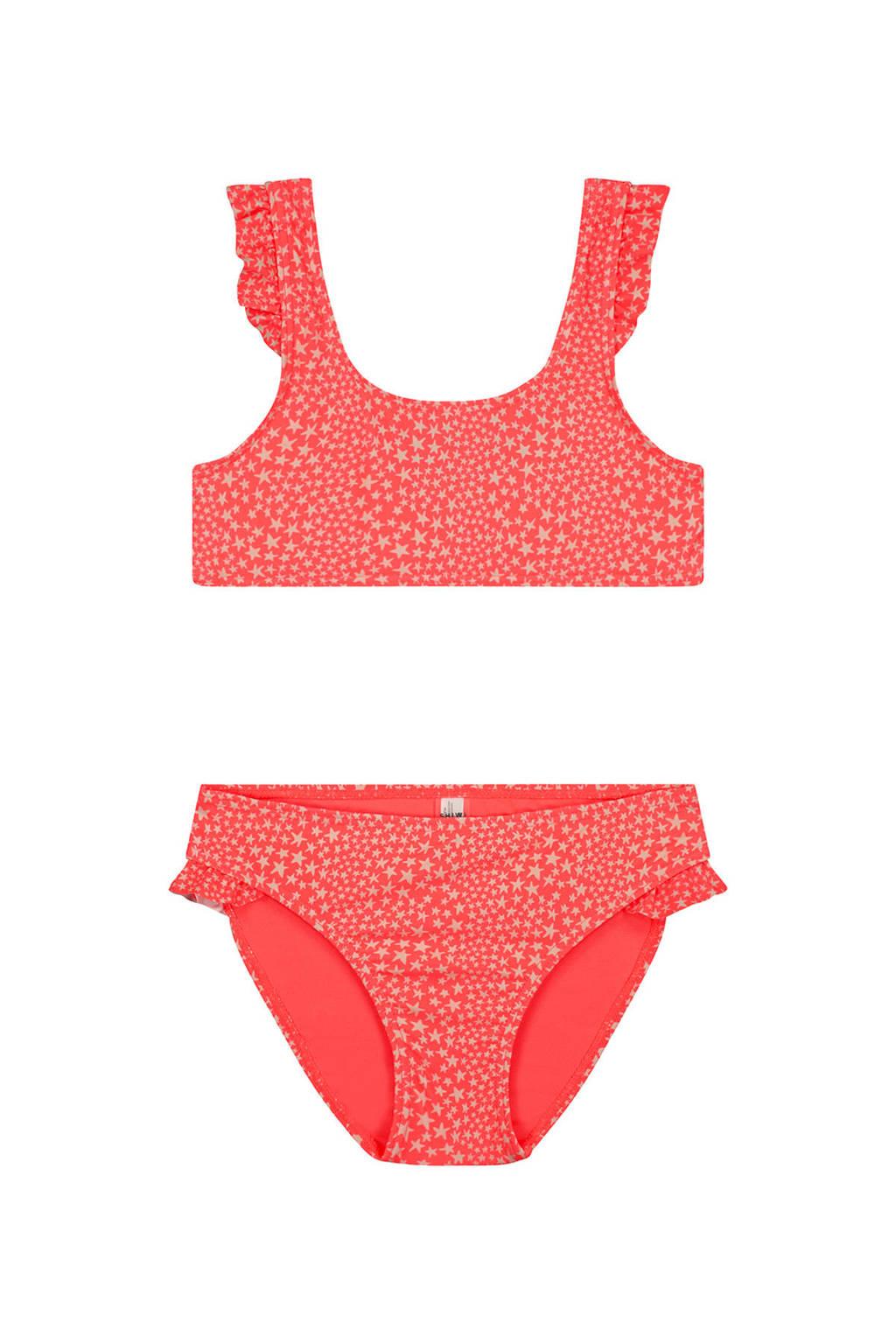 Shiwi bikini Tuvalu met sterren roze/wit, Roze/wit