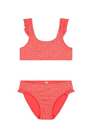 bikini Tuvalu met sterren roze/wit