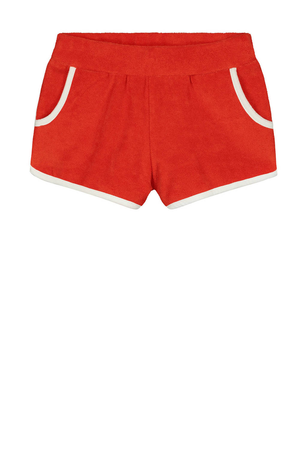 Shiwi strandshort Terry rood/wit, Rood/wit