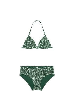 triangel bikini Tuvalu met sterren groen//wit