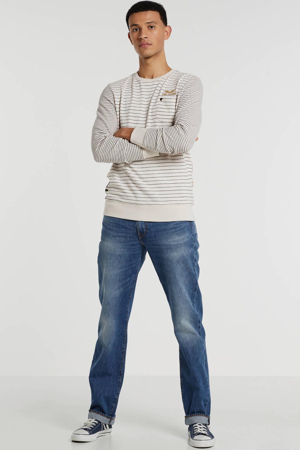 PME Legend sweater met logo grijs, Grijs