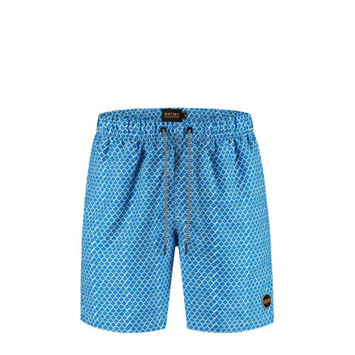 Shiwi zwemshort Mosaic met all over print blauw/wi