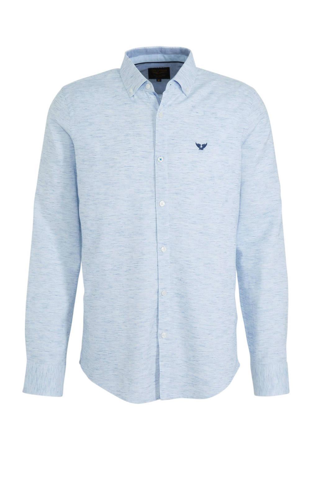 PME Legend slim fit overhemd lichtblauw, Lichtblauw