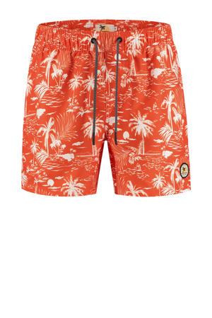 Zwemshort Kauai met all over print rood