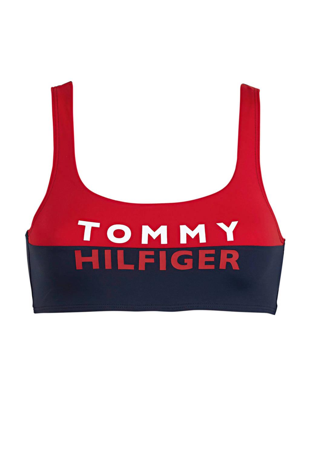Tommy Hilfiger crop bikinitop marine/rood, Marine/rood