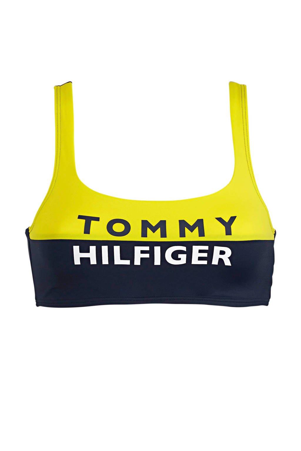 Tommy Hilfiger crop bikinitop marine/geel, Marine/geel