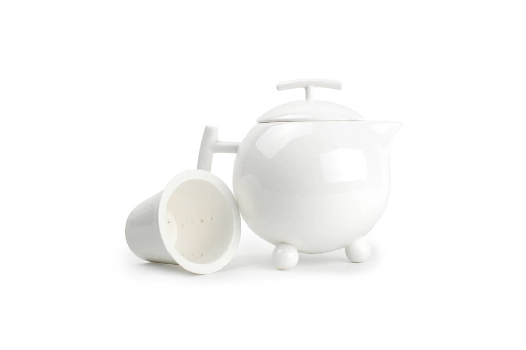 Yong theepot met filter squito 1 l, Wit