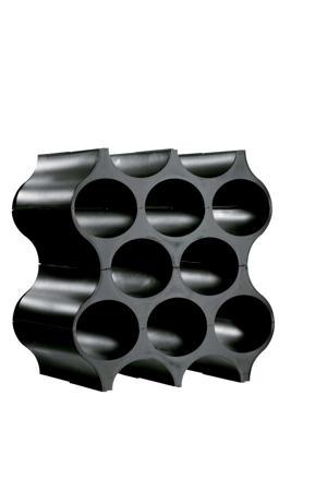 wijnrek stapelbaar set-up zwart 36 cm