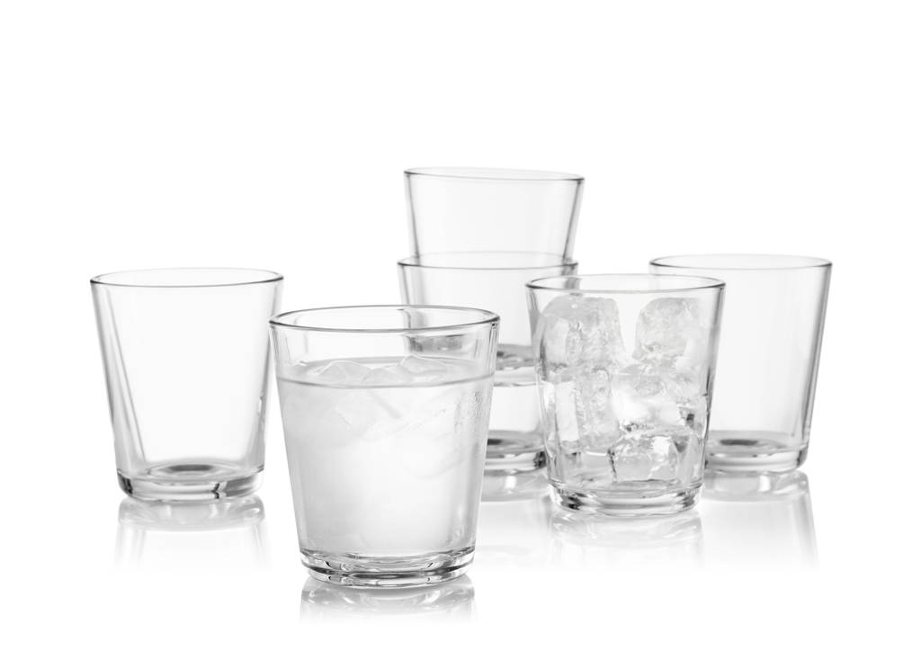 Eva Solo waterglazen 25 cl (set van 6), Transparant
