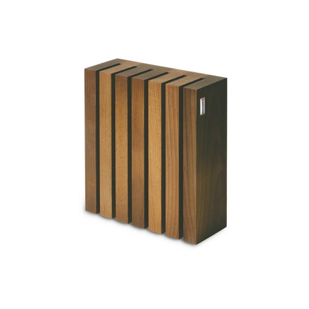 Wusthof messenblok voor 6 messen, Houtkleurig