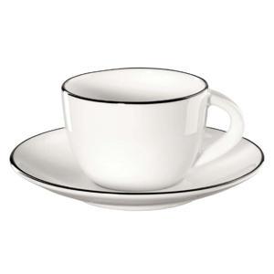 espresso kopje met schotel A Table Ligne Noire 7 cl