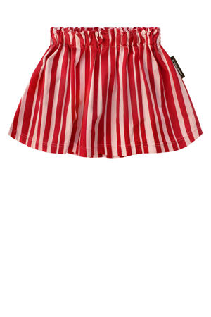 gestreepte rok Pink Stripes rood/roze