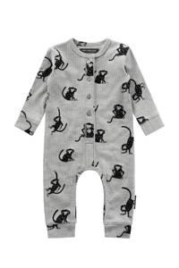 Your Wishes baby boxpak Monkey Business met all over print grijs, Grijs