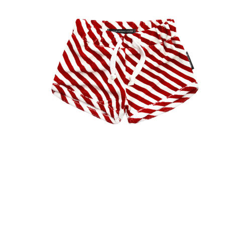 Your Wishes baby gestreepte short Red Stripes rood