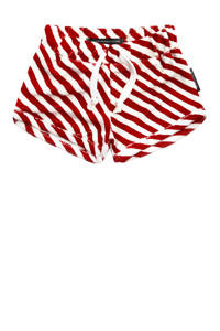 Your Wishes baby gestreepte short Red Stripes rood/wit, Rood/wit