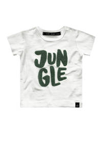Your Wishes T-shirt Jungle met tekst wit, Wit