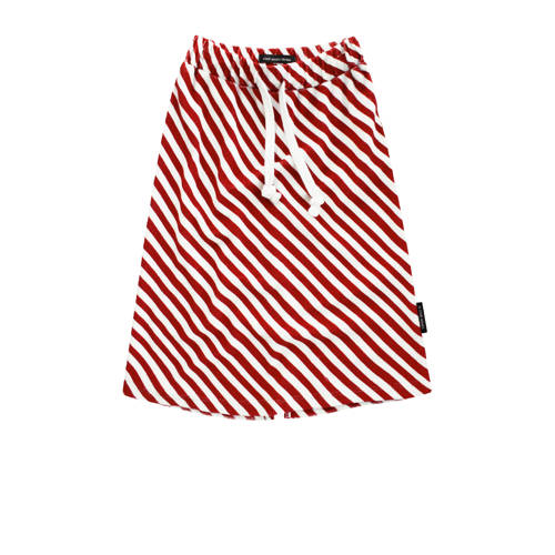 Your Wishes gestreepte rok Red Stripes rood/wit