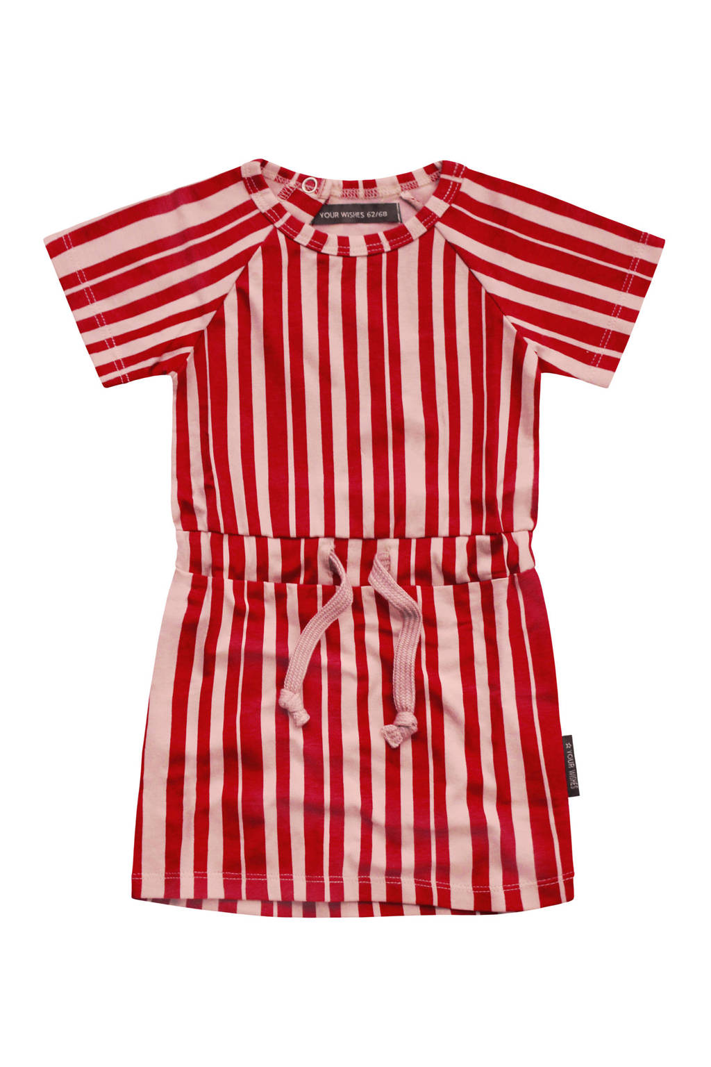 Your Wishes gestreepte sweatjurk Pink Stripes rood/rozee, Rood/rozee
