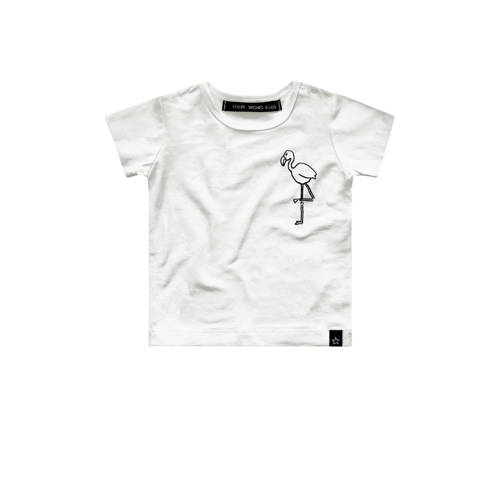 Your Wishes T-shirt Flamingo met printopdruk wit