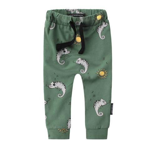 Your Wishes baby broek met dierenprint groen