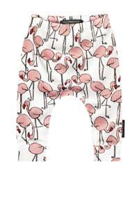 Your Wishes baby broek Flamingo met all over print wit, Wit