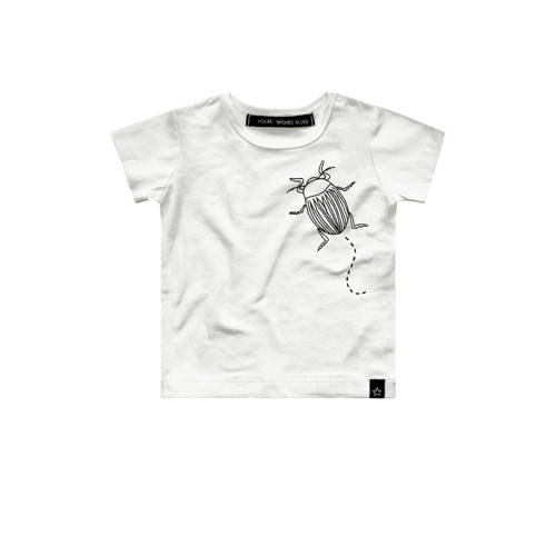 Your Wishes baby T-shirt Bugs met tekst wit