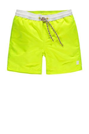 zwemshort Gally met magic print neon geel