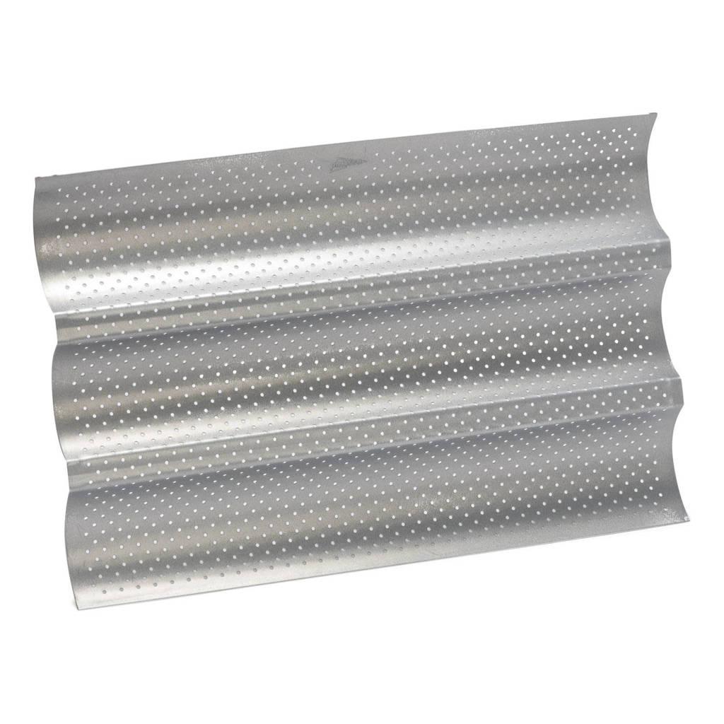 Patisse stokbroodvorm Silver Top 3 Stokbroden, Zilverkleurig