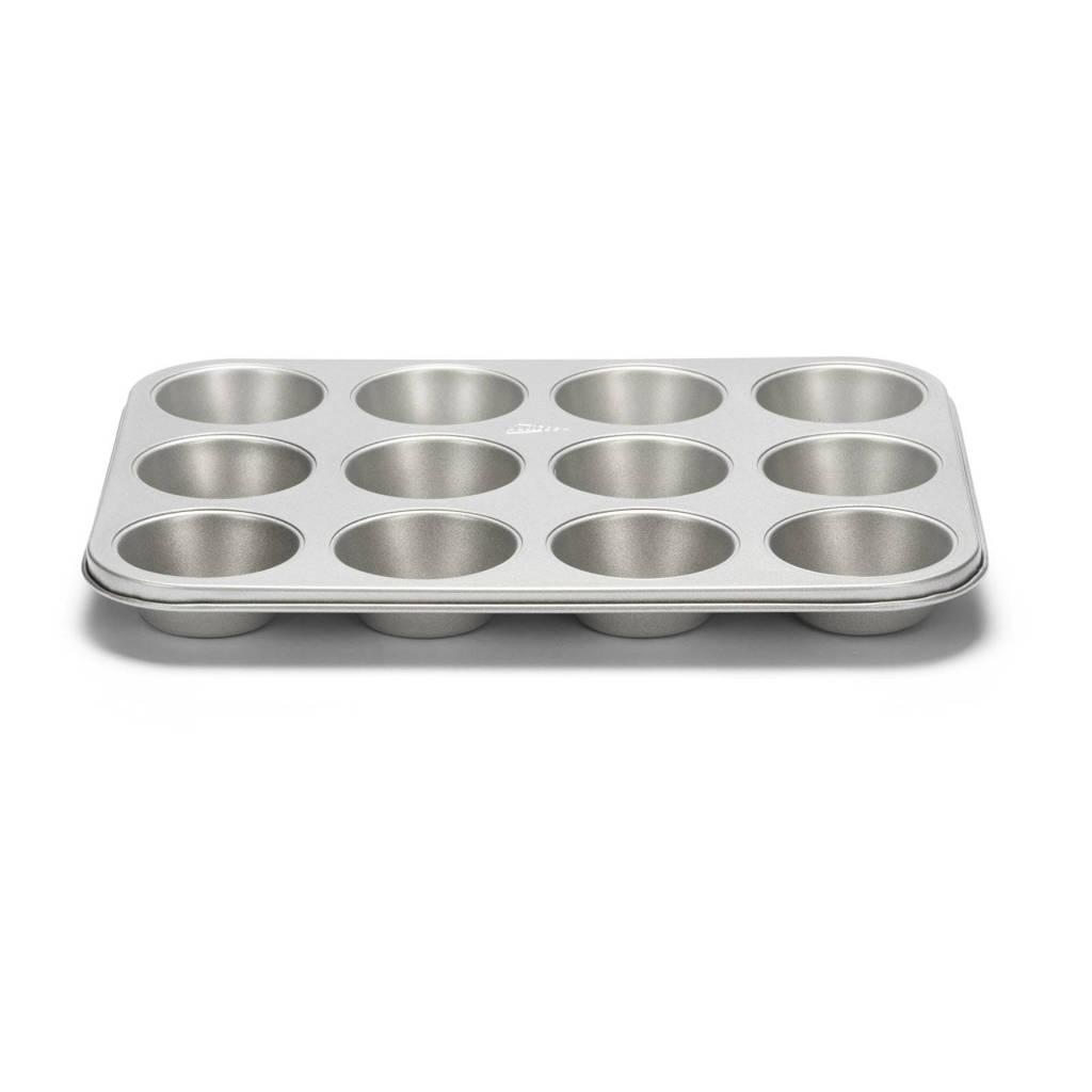 Patisse muffinvorm Silver Top 12 Vaks, Zilverkleurig