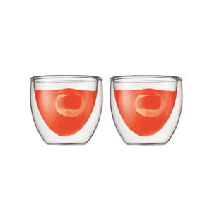 dubbelwandige glazen Pavina (8 cl) (set van 2)