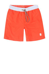 Tumble 'n Dry zwemshort Gally met magic print neon oranje, Neon oranje