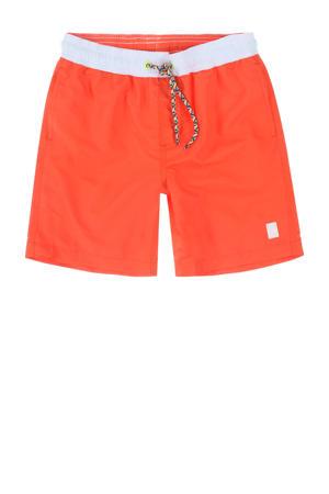 zwemshort Gally met magic print neon oranje