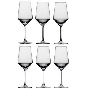 rode wijnglas Pure - set van 6