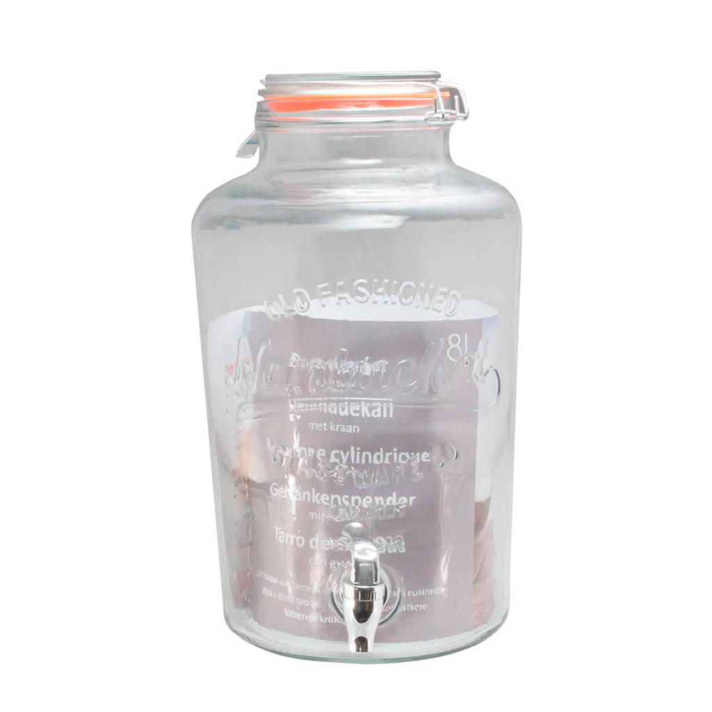 Easyline drank dispenser met kraantje (8 liter), Transparant