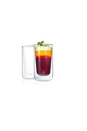 dubbelwandige glazen latte macchiato Nero (32 cl) (set van 2)